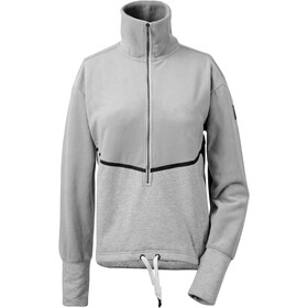 DIDRIKSONS Pia Halfzip Sweater Damen grey melange